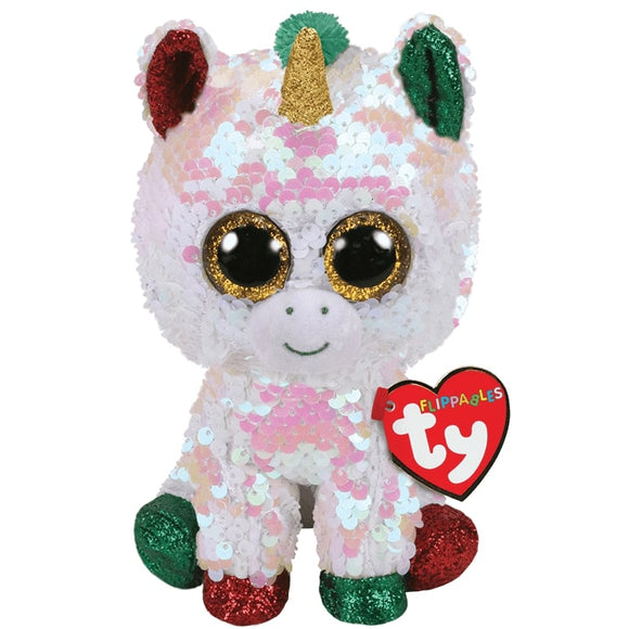 TY BUDDIE XL FLIPPABLE STARDUST UNICORN
