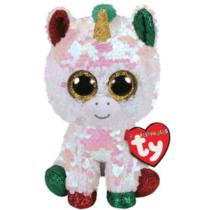 TY FLIPPABLE MED STARDUST UNICORN CHRISTMAS