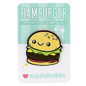 SQUISHABLE ENAMEL PIN HAMBURGER