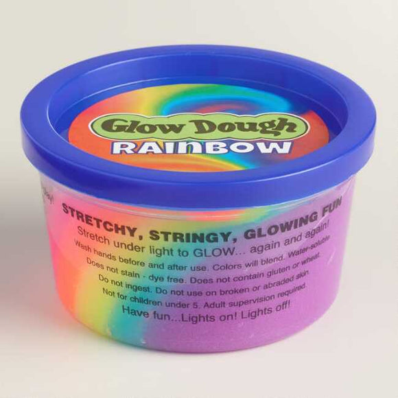 GLOW DOUGH RAINBOW (18)