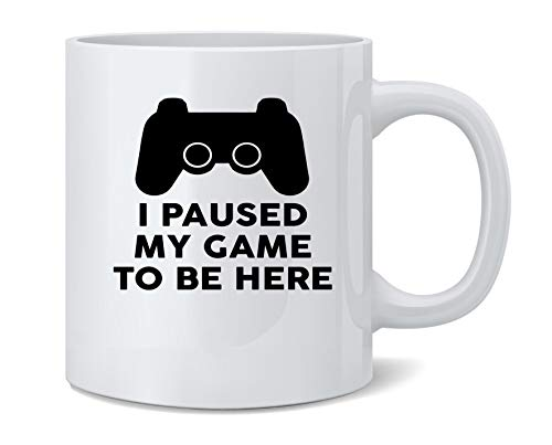 Paused My Game to Be Here PS Controller Gamer Ceramic Coffee Mug