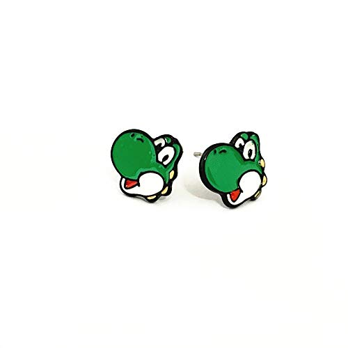 Wonderful Boutique Cosplay Jewelry Metal Mario Yosh Stud earrings