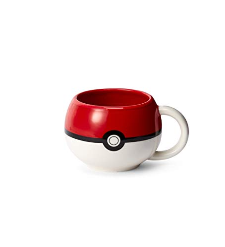 Nintendo Sculpted Ceramic Mug 2 Piece Set (2 Pack) - Pokemon Pokeball