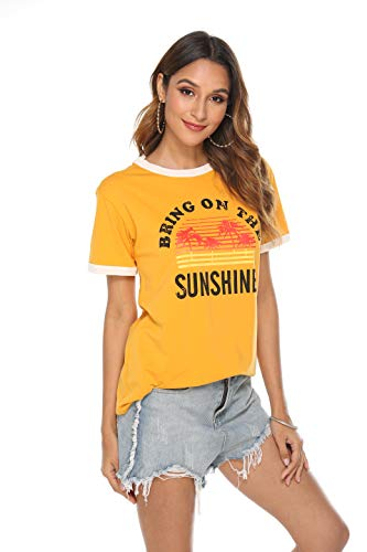 Bring On The Sunshine Long Sleeves Tees Blouses for Women