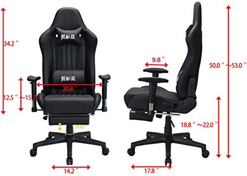 Gaming Chair with Footrest,Computer Gaming Chair High-Back Racing Chair