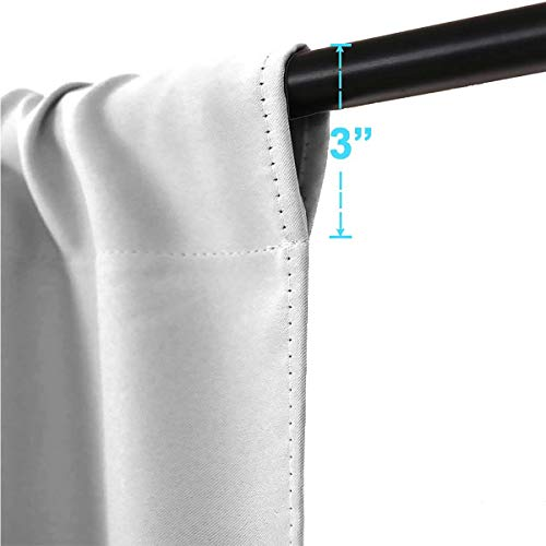 Darlene Harts White Thermal Insulated Curtains 40 Inches Long