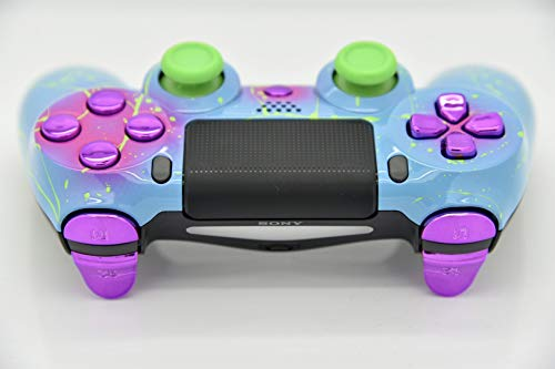 Hand Airbrushed Fade Playstation 4 Custom Controller (Color Bomb W/Inserts)