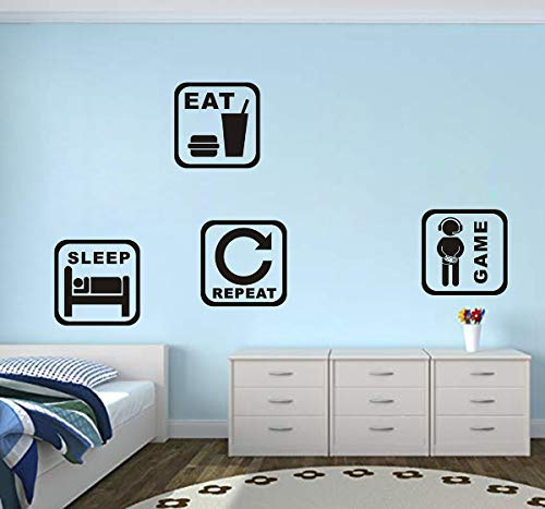 Game Boy Wall Decals Video Game Stickers Vinyl Wall Decal Gaming Quote