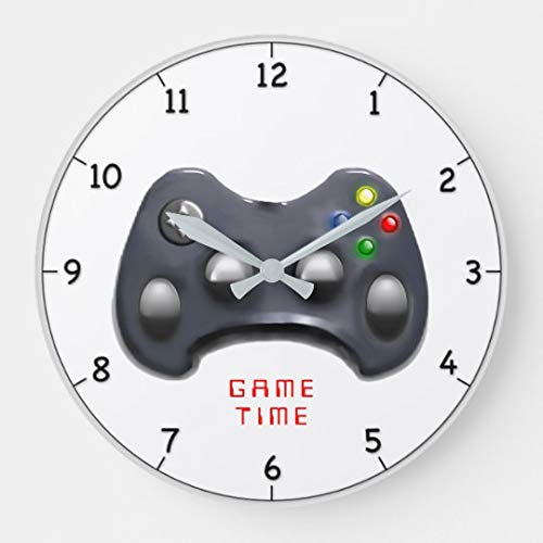 EnjoyHome Video Gamer Time Gift Wood Clock Wall Deco