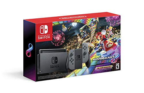Nintendo Switch w/ Gray Joy-Con + Mario Kart 8 Deluxe (Full Game Download)