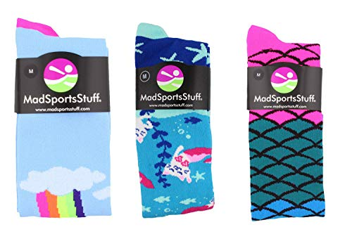 MadSportsStuff Rainbow Mermaid Cat Socks Gift Pack