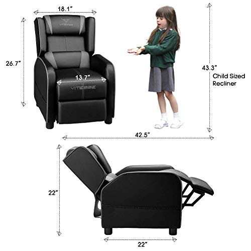 Vitesse Gaming Kids Sofa Recliner,Youth Children PU Leather Armchair