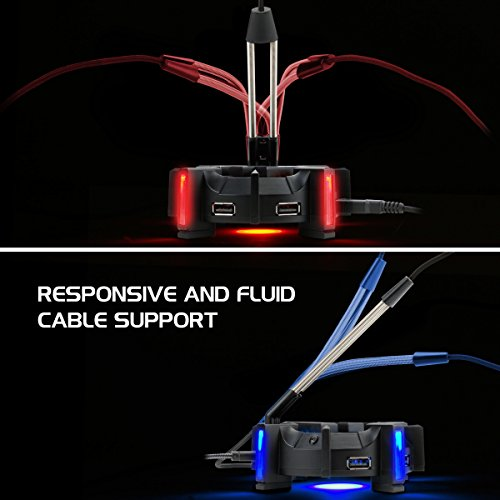 Pro Gaming Mouse Bungee Cable Holder with 4 (Design for Esports)