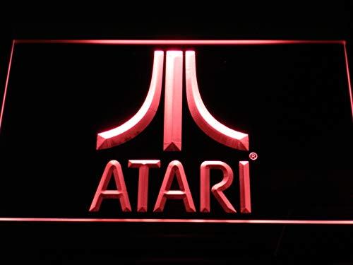 "MorganNeon 12"" x 8"" Atari PC Game LED Neon Light Sign Red"