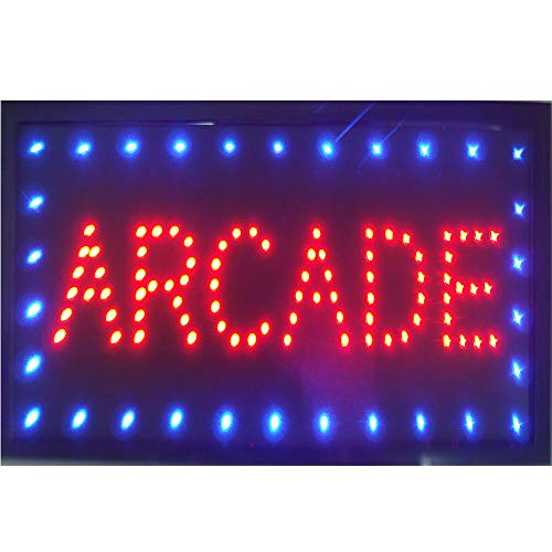 CHENXI LED Arcade Shop Open Sign Special Offer Graphics Ultra Bright Flashing 10 x19