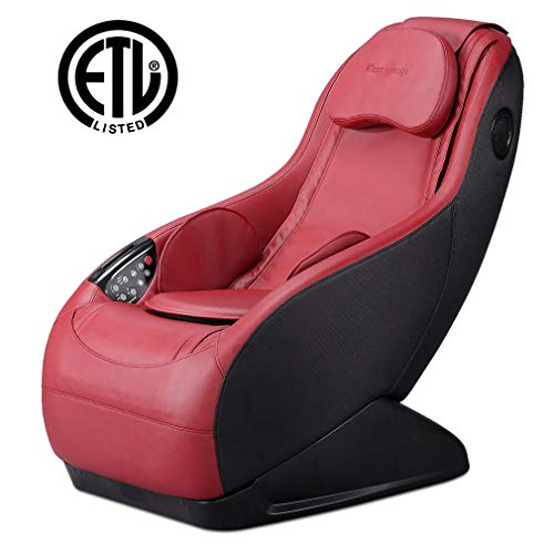 Assembled Curved Long Rail Shiatsu Massage Chair w/Wireless Bluetooth Speaker