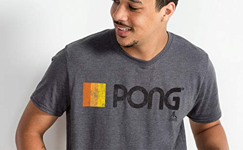 Ripple Junction Atari Pong Logo Adult T-Shirt XL Heather Platin