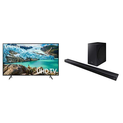 Samsung FLAT 58'' 4K UHD 7 Series Smart TV (2019) with Sound Bar