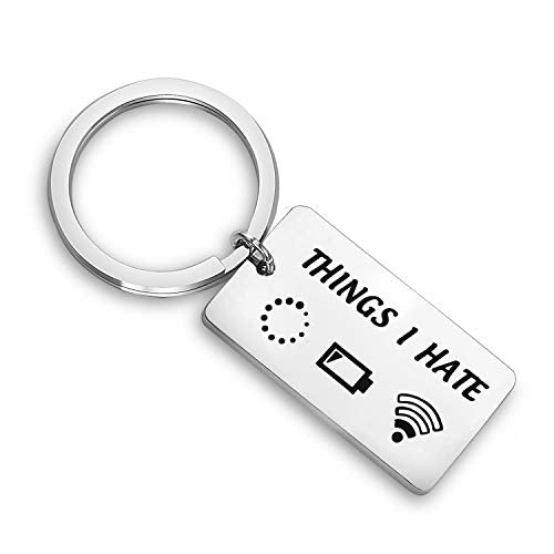WUSUANED Programmer Gamer Gift Things I Hate Funny Keychain