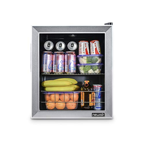 NewAir Beverage Cooler and Refrigerator, Holds up to 60 Cans, Perfect for Beer Wine or Soda