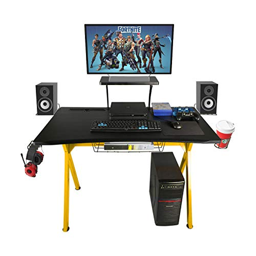 "LAZZO X Type Gaming Desk 41"" Game Table Home Computer Desk"