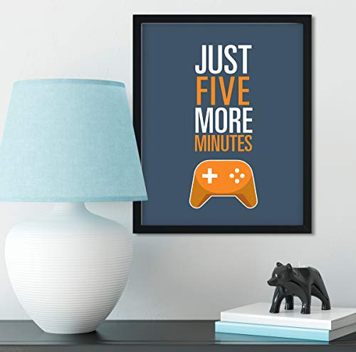 Just Five More Minutes - Gamer Wall Decor Art Print - 8x10 unframed print