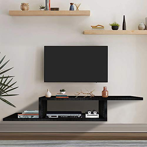 ChooChoo TV Floating Shelf, Hanging TV Stand, Wall Mounted TV Console