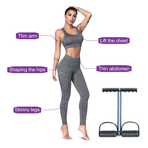 COVVY Elastic Sit Up Pull Rope Spring Tension Foot Pedal Abdomen Leg Exerciser