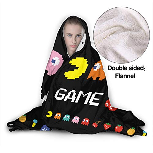 Arcade Video Game Throw Blanket,Flannel Blanket Bedding Wearable Blanket