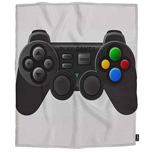 Mugod Game Controller Throw Blanket Black Joystick with Different Buttons