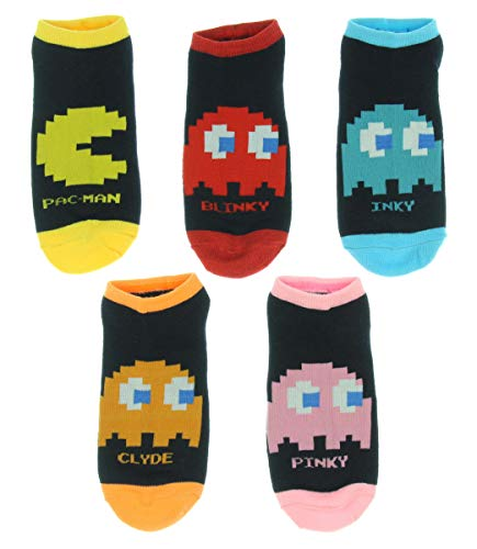 Pacman Arcade Game Women And Men 5 Pack Ankle Socks