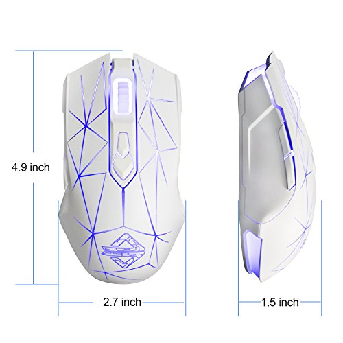 Ajazz AJ52 Watcher RGB Gaming Mouse, Programmable 7 Buttons (White)