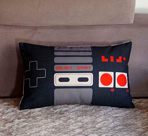 FAVDEC Decorative Game Pad Pillow Cover 12 Inches x 20 Inches, Throw Pillow