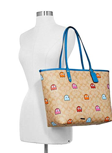 Coach Reversible City Tote with Pacman Ghost Print