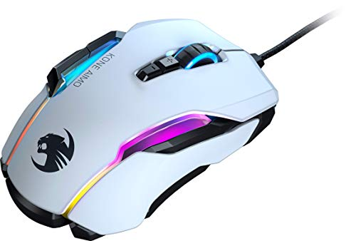 Roccat Kone AIMO Gaming Mouse High Precision, Optical Owl-Eye Sensor (White)
