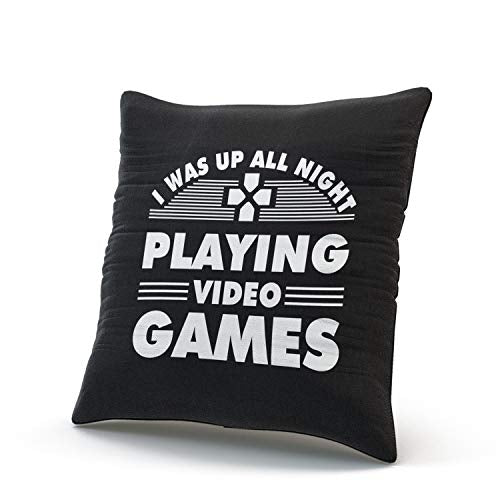 Fanaing White Gamer was Up All Night Playing Video Games Pillowcase