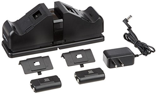 AmazonBasics Dual Charging Station for Xbox One, Xbox One Standard, And Xbox One Elite Controllers - Black
