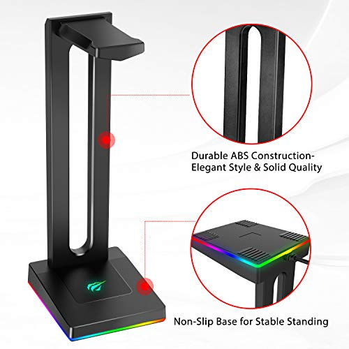 Headphone Holder for Gamers Gaming PC Accessories Desk