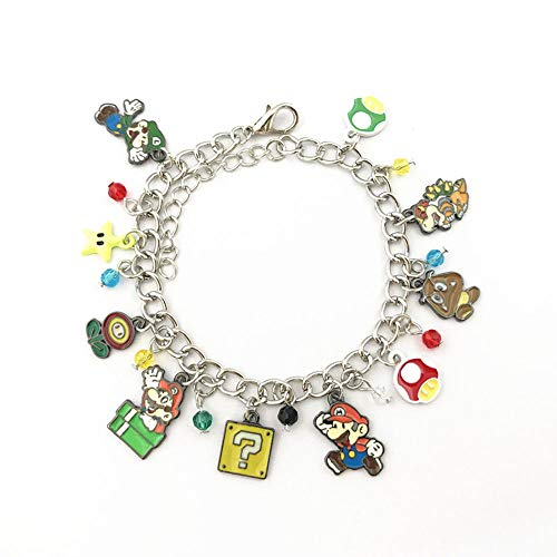 Universe of Fandoms Anime Cartoons game Mario Charm Bracelet Gifts for Women girl