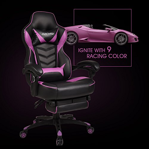 Video Gaming Chair Racing Office - Adjustable Swivel