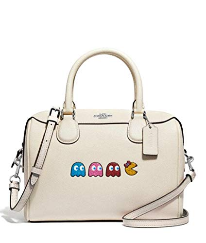 Coach Mini Bennett Satchel with Ms. Pacman Animation in Chalk 72907