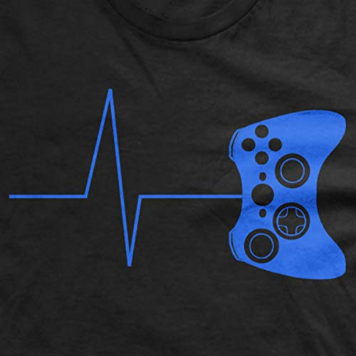 Guerrilla Tees Heartbeat of a Gamer Hoodie Funny Gaming Sweatshirts