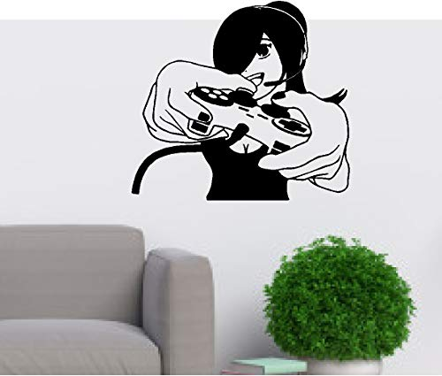 Video Game Sticker Game Handle Sticker Girl Gamer Decal Gaming Vinyl Wall Decals