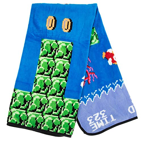 Bioworld Super Mario Video Game Fleece Throw Fan Accessory