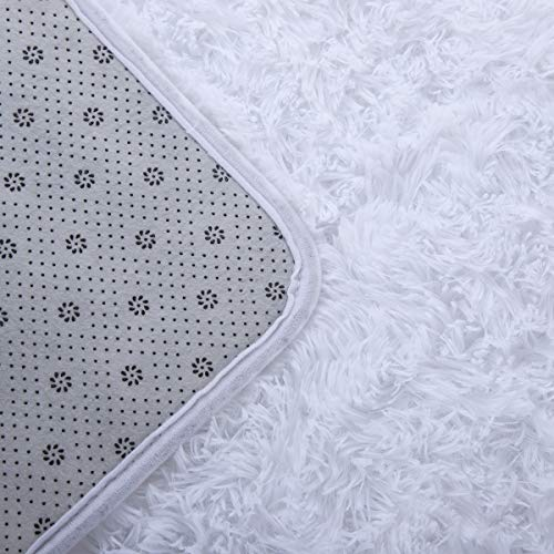 Rectangle Ultra Soft Area Rugs Fluffy Carpets for Bedroom Room
