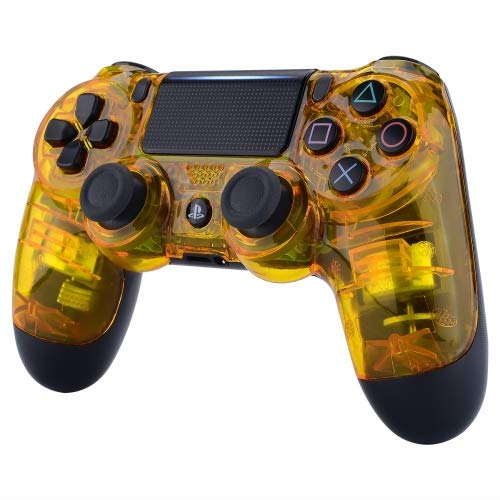 Glossy Transparent Yellow Playstation 4 PS4 Dual Shock 4 Wireless Custom Controller