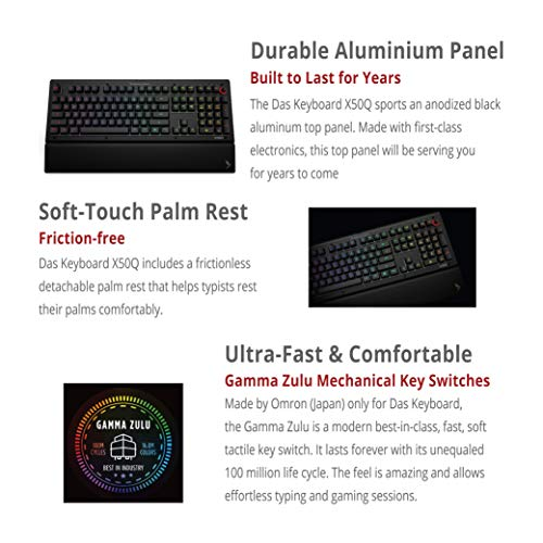 Das Keyboard X50Q Soft Tactile RGB Mechanical Keyboard