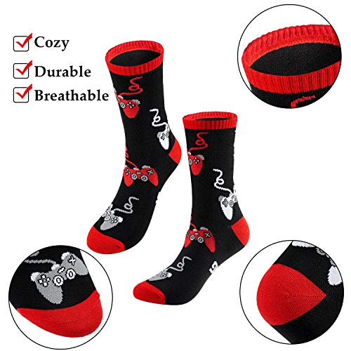 6 Pairs Do Not Disturb Socks Cotton Funny Gaming Socks for Men Teen Boys