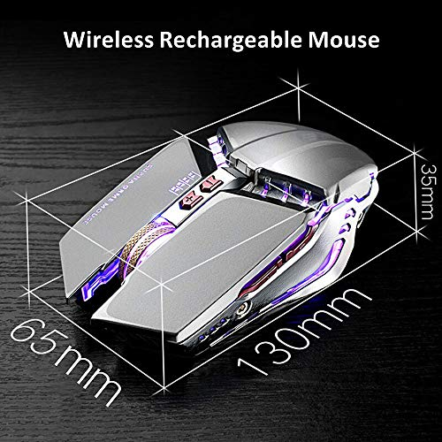 TENMOS T12 Wireless Gaming Mouse Rechargeable (Silver)