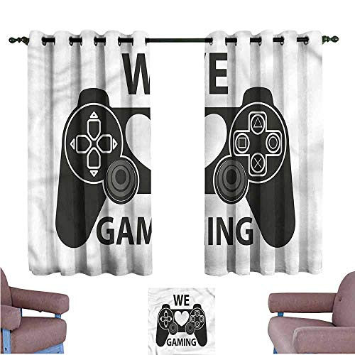 Gamer Grommet Creative Blackout Curtains We Love Gaming Phrase